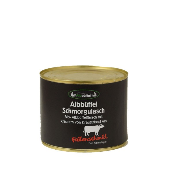 Bio-Albbüffel Roulade 600g Dose