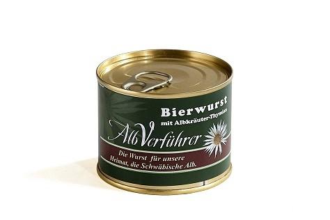 Albverführer Bierwurst mit Thymian, Dose 200g