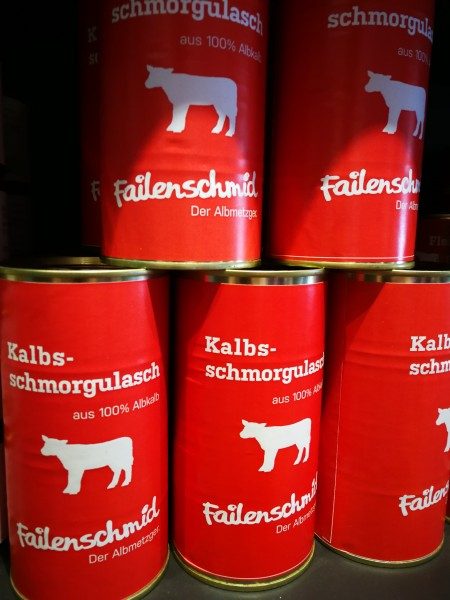 Kalbs Schmorgulasch, Dose 500g